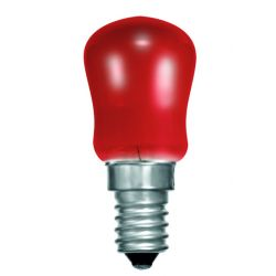 BELL 02624 15W Small Sign Pygmy Light Bulb - SES E14, Red