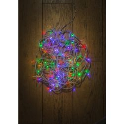 11.9m 120 LED Multi Function Multi Colour with Clear Cable Light Set