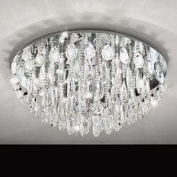 Eglo 93434 CALAONDA G9-ECO Crystal Chrome Clear Ceiling Lights