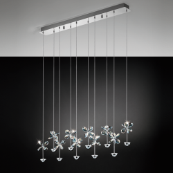 Eglo 93663 PIANOPOLI LED Bar Crystal Clear Ceiling Pendant