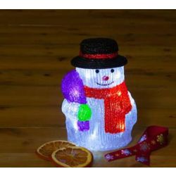 NOMA Battery Operated 20cm Acrylic Snowman