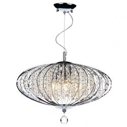 Dar Lighting ADR0550 Adriatic 5 Light Pendant Polished Chrome