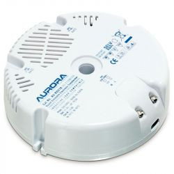 Aurora 50-210W/VA Round Dimmable Electronic Transformer