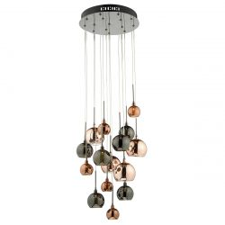 Dar Lighting AUR1564 Aurelia 15 Light Pendant Copper Dark Copper And Bronze