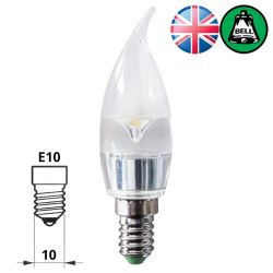 BELL 05658 2W LED MES/E10 30mm Bent Tip Clear Chandelier Bulb