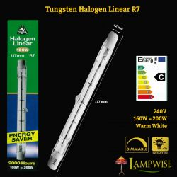 Bell Lighting 160 Watt 117mm Tungsten R7 Halogen Linear