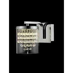 Impex Lighting LED608242/01/WB/CH Florina 1 Light Polished Chrome And Crystal Wall Light
