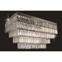 Impex Lighting STLED508122/80/06/CH Crystal Art 6 Light Crystal chrome Chandeliers Ceiling Light