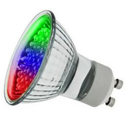 LED 1W 240V GU10 PAR16 Colour Changing RGB Spot Lamp Bulb