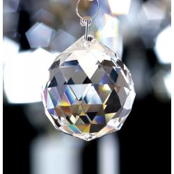 Diyas C10030 Crystal Sphere Clear Without Ring 30mm
