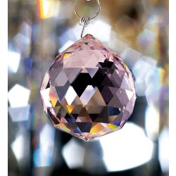 Diyas C10041 Crystal Sphere Lilac Without Ring 40mm