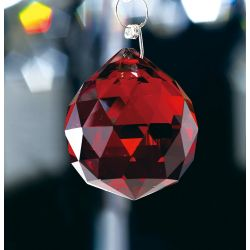 Diyas C10045 Crystal Sphere Red Without Ring 40mm