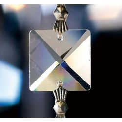 Diyas C70040 Crystal Quadrilateral Clear Square Without Ring 16mm