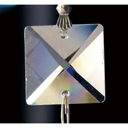 Diyas C70041 Crystal Quadrilateral Clear Square Without Ring 18mm