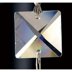 Diyas C70110 Crystal Quadrilateral Clear Square Without Ring 20mm