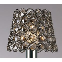 Diyas ILS10703 Crystal Ring Shade Black Chrome Clip On