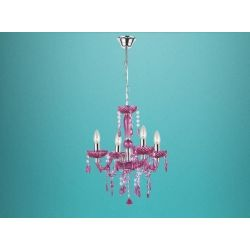 GLOBO Lighting Luster Kristal 4 light chandelier fun funky ceiling light shabby chic