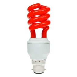 Pro Lite Helix 15W 240V BC/B22 CFL Spiral Red Lamp