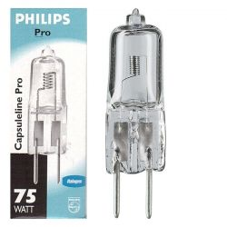 Philips 75w 12v Clear Gy6.35 Halogen Capsules