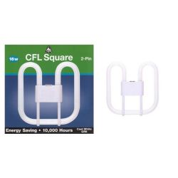 Bell 16w 2 Pin Gr8 2d Compact Fluorescent Square (COOL White)