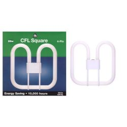 Bell 28w 4 Pin Gr10q 2d Compact Fluorescent Square (WHITE)