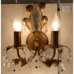 DAR Lighting Versailles French Gold Finish Double Wall Light