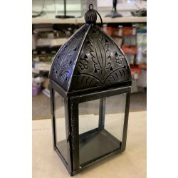 NON Electrical zinc metal standing/hanging lantern for tealight candles