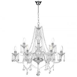 Dar Lighting KATIE 9LT CHANDELIER POL CHR ACRYLIC GLASS
