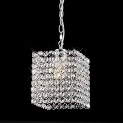 Diyas IL60009 Kudo Polished Chrome/Crystal Non-Electric Crystal Square Shade