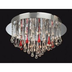 Firstlight 3321CHRE Perla 20 Light Flush Fitting