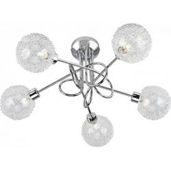 Leuchten Direkt BUBBLZ Ceiling Light chrome 5-light 50187-17