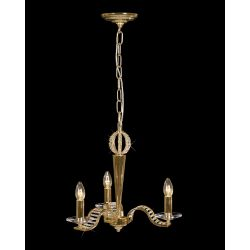 Diyas IL30443 Niobe French Gold/Crystal 3 Light Pendant light