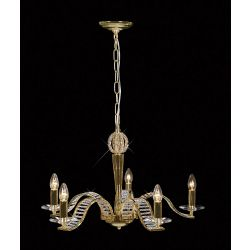 Diyas IL30445 Niobe French Gold/Crystal 5 Light Pendant light