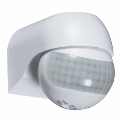 Mini PIR Sensor IP44 rated 180 degree White