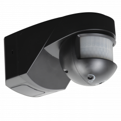 IP55 200 degree PIR sensor - black