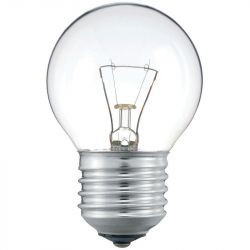 Philips 40W 230V ES E27 P45 Round Golf Ball Clear Light Bulb, Dimmable