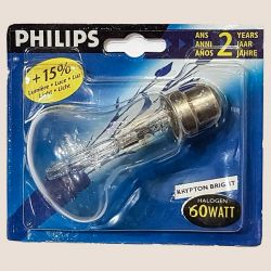 Philips Krypton Halogena Brilliant 60w Clear B22 BC 15% Brighter