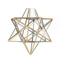 Loxton Lighting 300mm Star Pendant Glass with Brass framework