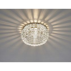 Diyas IL31841CH Ria Polished Chrome/Crystal 1 Light G9 Cube Pattern Round Downlight