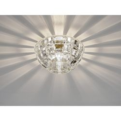 Diyas IL31843CH Ria Polished Chrome/Crystal 1 Light G9 Diamond Faceted Round Downlight