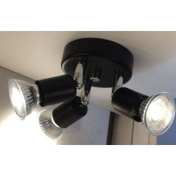 EGLO Mini 3x directional spot ceiling light in Matt Black