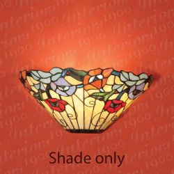 Interiors 1900 T5W Meadow Wall Light Tiffany Shade