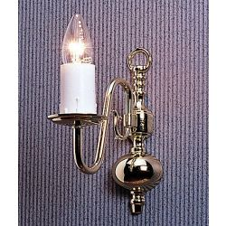 Firstlight Flemish traditional Polished brass single wall light