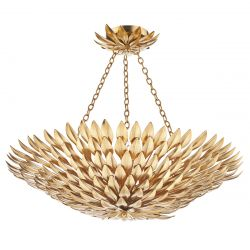 Dar Lighting VOL5435 Volcano 5 Light Pendant Gold