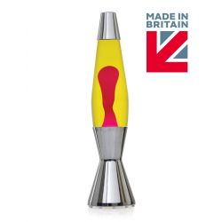 Mathmos Astro Baby Lava Lamp The Original-Yellow with Red Lava